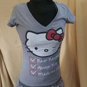 Hello Kitty holiday tee shirt small